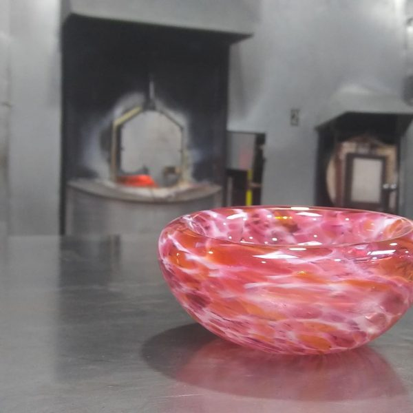 Bubble Bowl - Pink and White