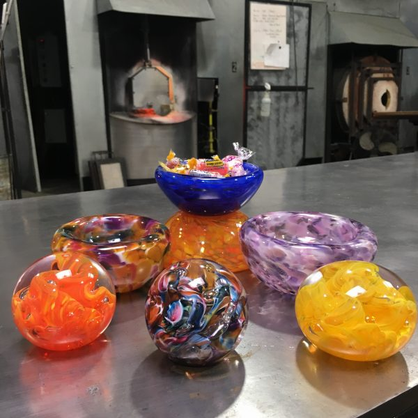 Bubble Bowls and paperweights